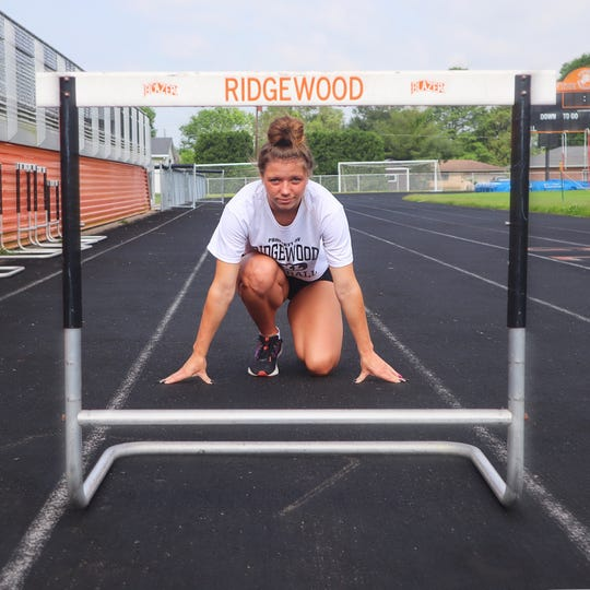 Ridgewood's Alexis Prater will compete in long jump, the 100 meter hurdles and sprint as well as the 4x100 meter relay this weekend at Division III state track meet.