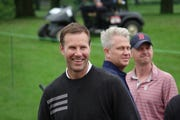 Nebraska basketball coach Fred Hoiberg laughs before the start of his pro-am round Wednesday at Wakonda Club with comedian Larry the Cable Guy and major champion golfer John Daly on Wednesday at the Principal Charity Classic in Des Moines.