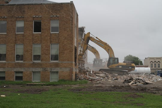 Workers began demolition of the main Warren County Courthouse structure on May 29, 2019. The building is being removed to make way for a new structure.