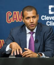 Cleveland Cavaliers general manager Koby Altman photographed at the Cavaliers training facility in Independence, Ohio, Wednesday, July 26, 2017.