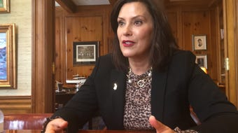 Gov. Gretchen Whitmer spoke to reporters on Wednesday about decision to ban flavored e-cigarettes in Michigan.