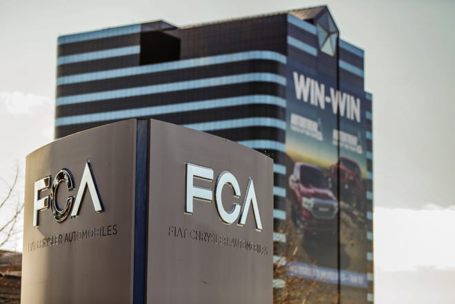 The Fiat Chrysler Automobiles USA LLC headquarters in Auburn Hills,Mich. is photographed on Saturday, March 16, 2019.