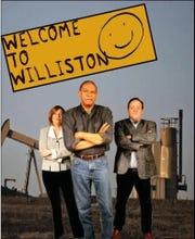 "Kelly Pino, Harold Uriah Hogan and David Wolber in Detroit Repertory Theatre's ""Williston."""