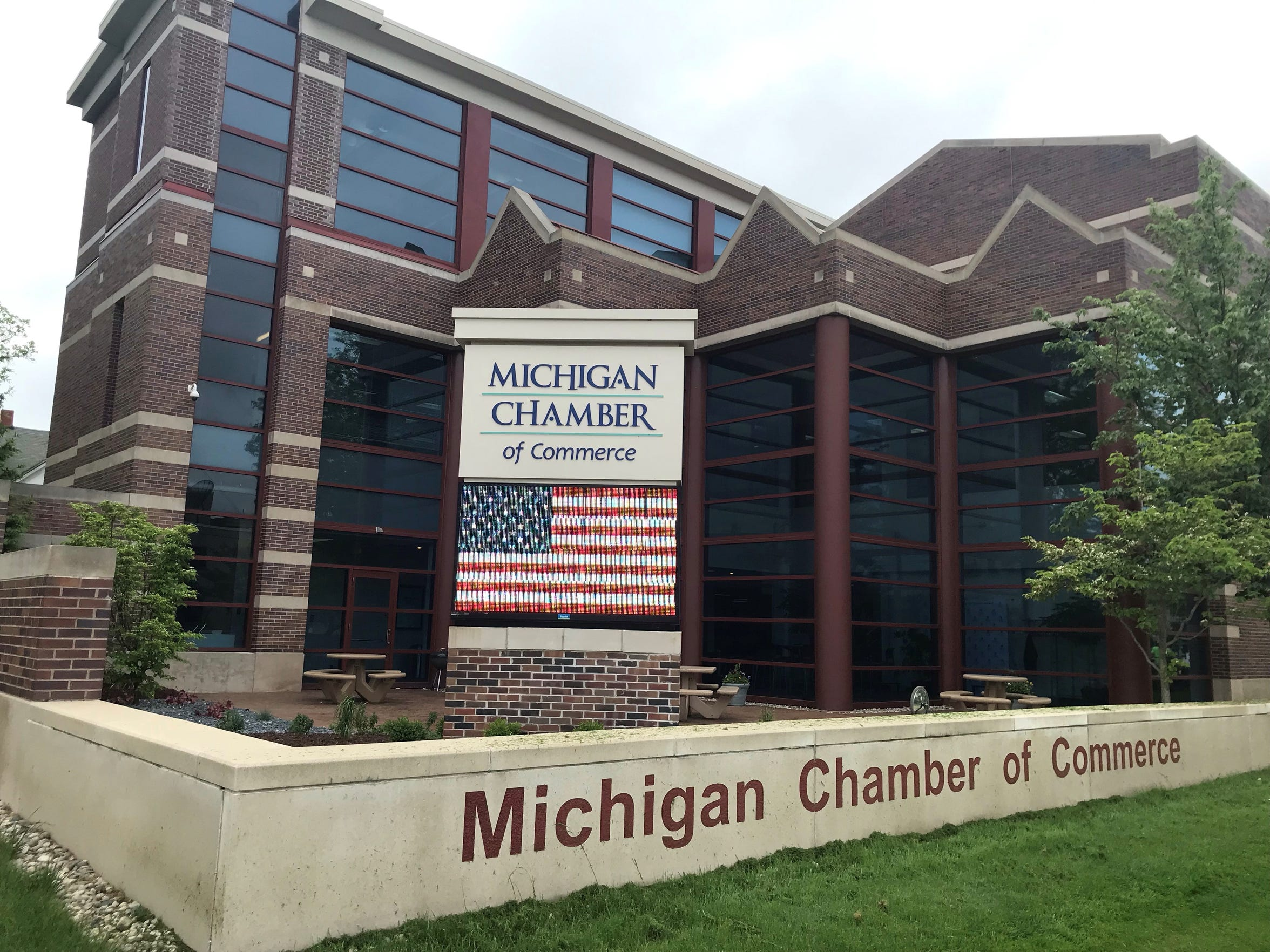The Michigan Chamber of Commerce's headquarters in downtown Lansing