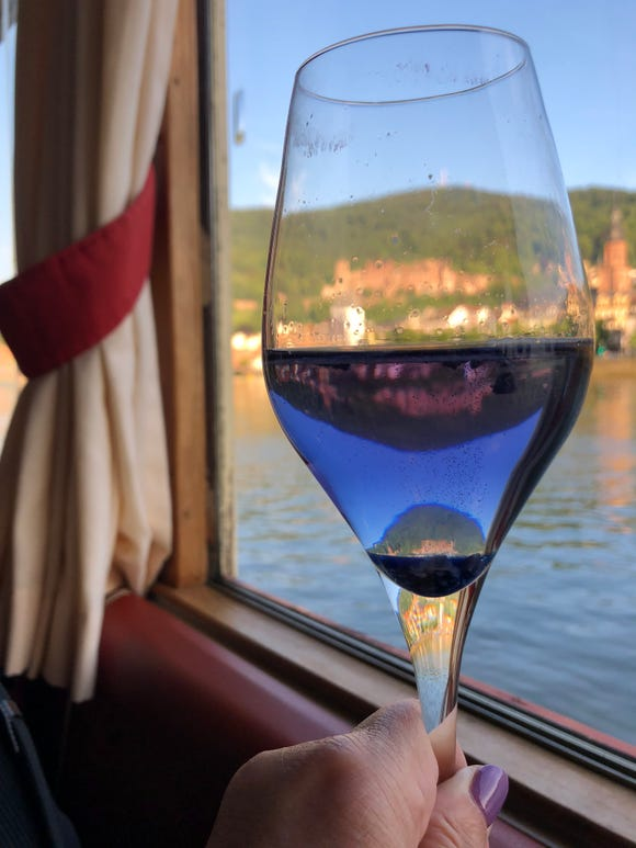 Cheers to happy travels in 2019 from a dinner  cruise in Heidelberg.
