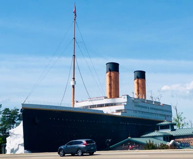 The Titanic Museum is a popular attraction on the parkway in Pigeon Forge.