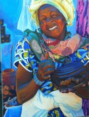 """""""Market Day"""" by Leslie Kutinsky is part of the """"Beyond Constraint"""" exhibit opening Sunday at the Janice Charach Gallery at the Jewish Community Center in West Bloomfield."""