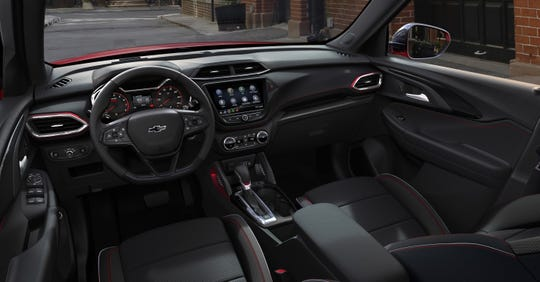 The new Trailblazer will share an interior design with the Chevy Trax.