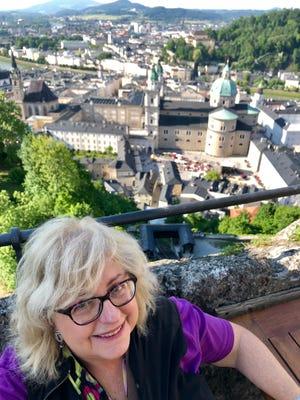 Taking a break above Salzburg, Austria. (photo credit: S. R. Pollack)
