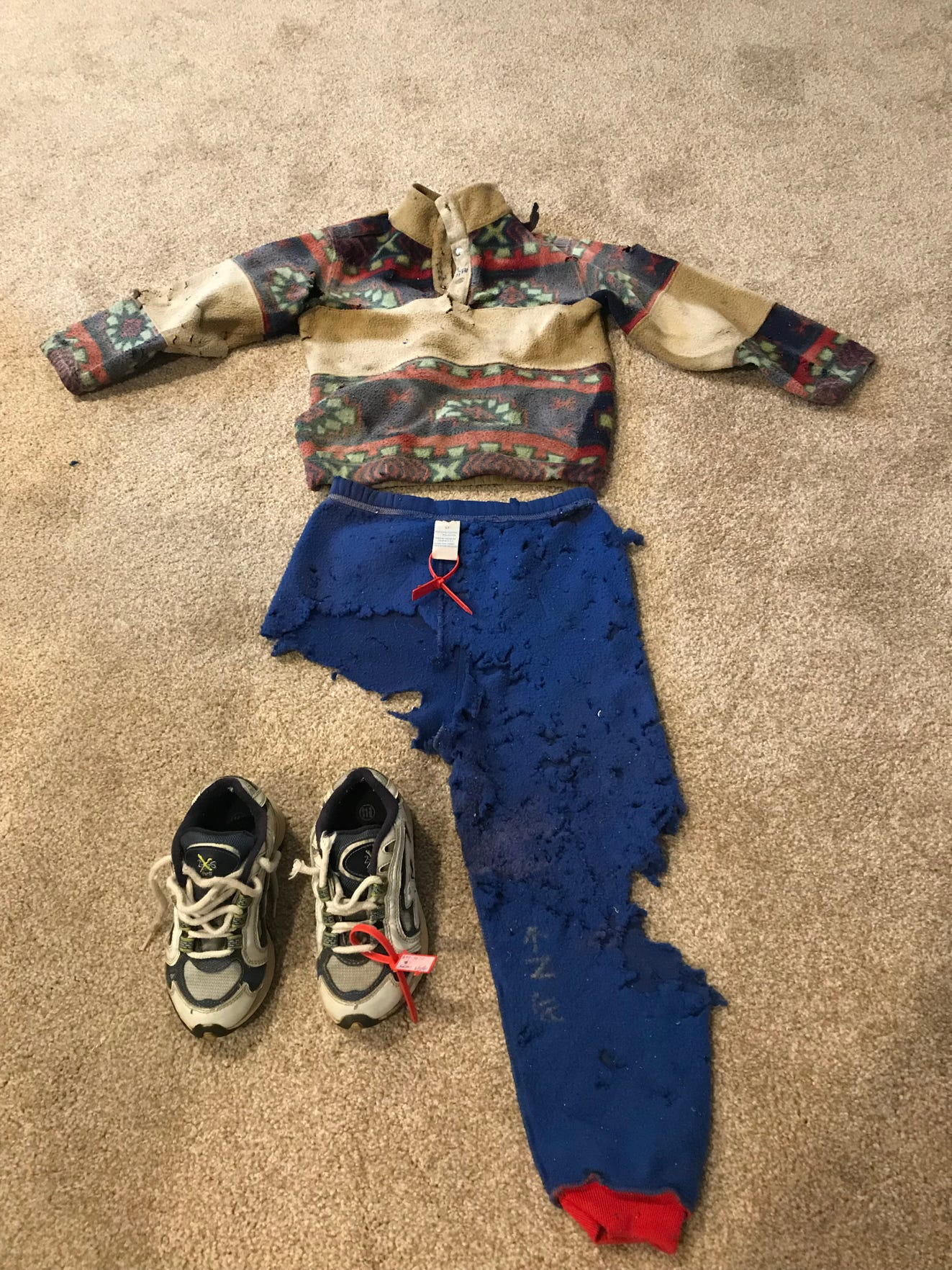 Jaryd's clothing and shoes found by hikers nearly four years after he went missing.