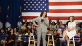 A clip from U.S. Sen. Kamala Harris', D-Calif., town hall at the West End Community Development Center in Greenville, Wednesday, May 29, 2019.