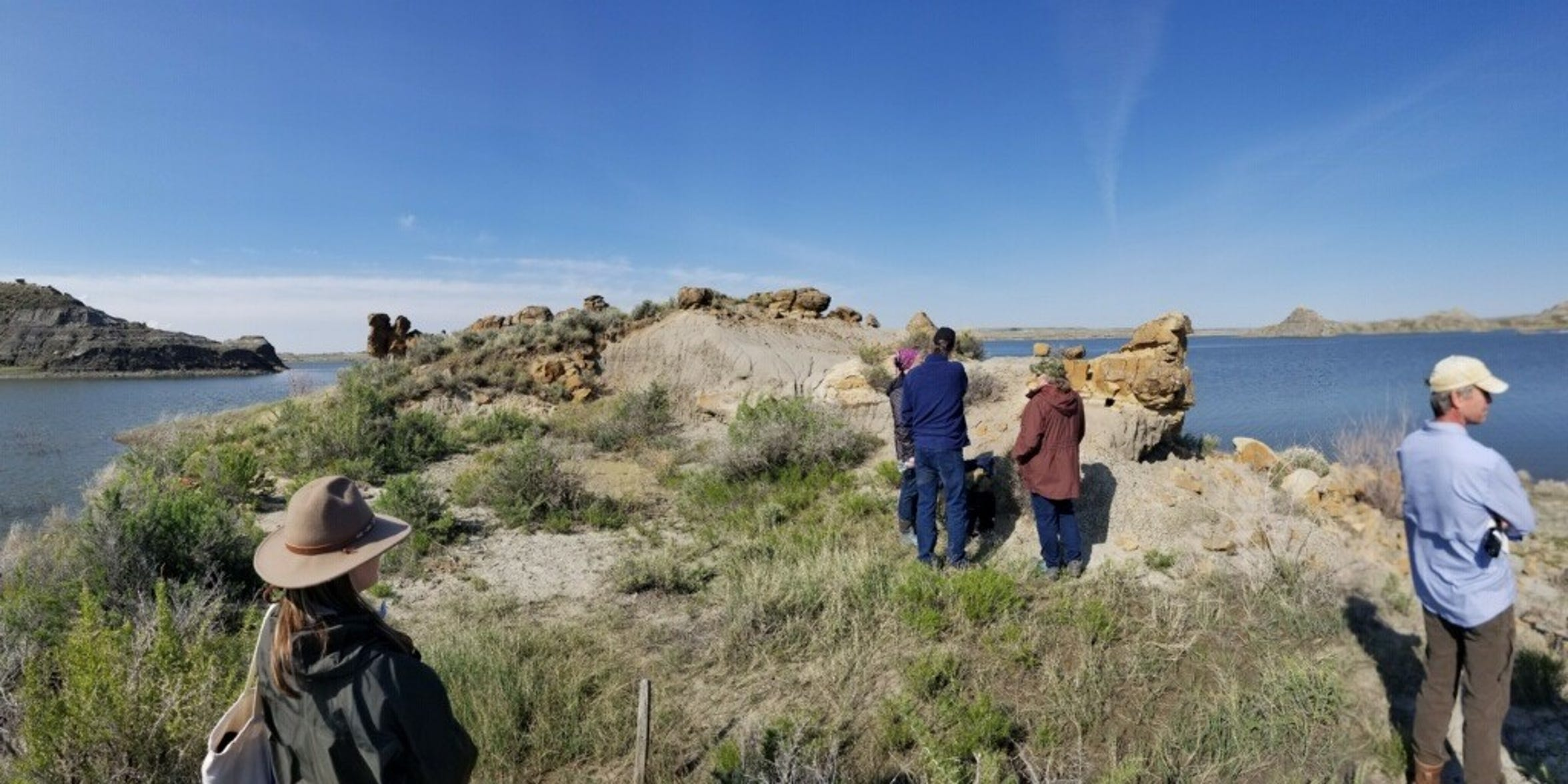 The Wankel family returned in May to the sight along Fort Peck Reservoir where Kathy Wankel found the dinosaur now known as the Nation's Rex and soon to go on display at the Smithsonian National Museum of Natural History in Washington, D.C.