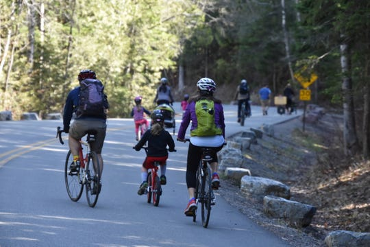Bicyclists and hikers can use Going-to-the-Sun Road without traffic until It opens at the end of June