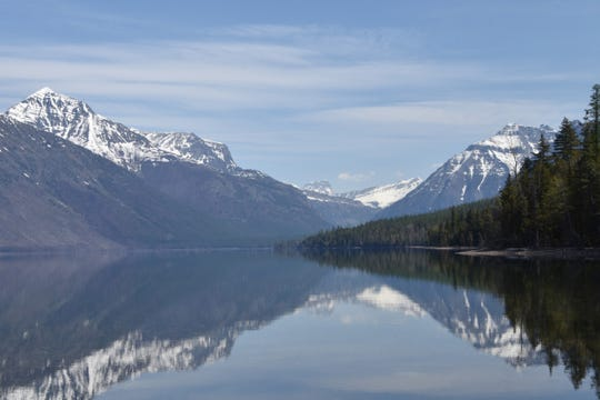 The early season shows off McDonald Lake before the hordes of tourists come.