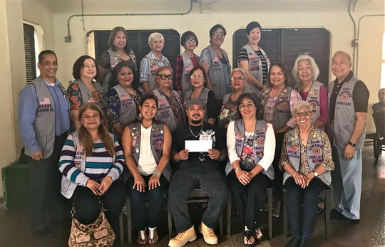 Guam Sunshine Lions Club made a monetary donation to Jeanette Cruz, to assist with her medical treatment expenses on May 11 at the Chamoru Village in Hagatna. Seated from left: LouJean Borja, L. Tish Tano, Mike Cruz (received donation on behalf of Jeanette Cruz), L. Annie Artero, and L. Jovie Mejorada. Second row: Lions Frank Aguon, Jr., Doris Cruz, Lorraine Rivera, Jill Pangelinan, Marie Salas, Helen Colby, Julie Cruz, Lola Flores, and Pete Babauta. Third row: Lions Clarice Quichocho, Helen Mendiola, Sid Weedin, Dee Cruz and Marietta Camacho.