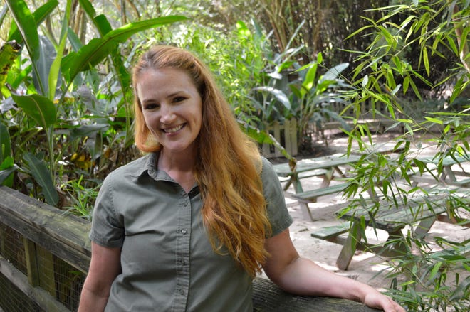 """Leah """"Fran"""" Frances Miller is the Animal Curator at the Zoo of Acadiana, also known as Zoosiana"""