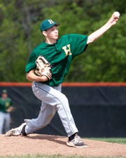 Sophomore Adam Mrakitsch got the start for Howell when No. 1 pitcher Luke Russo was unable to take the mound in a 14-1 pre-district loss to Brighton on Tuesday, May 28, 2019.