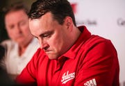 Indiana men's basketball coach Archie Miller took questions -- some which asked how confident should Hoosier fans feel about the upcoming season -- before greeting fans at IU's annual event at Huber's Orchard and Winery Wednesday evening.