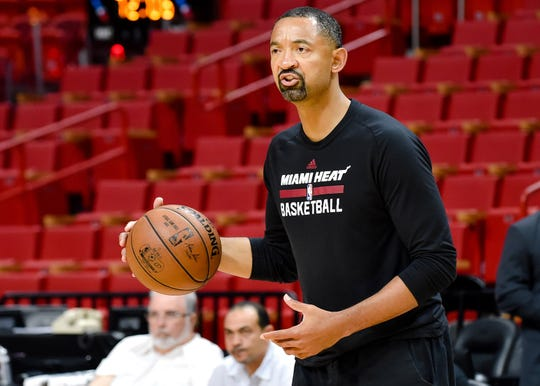 Juwan Howard, a former Miami Heat assistant and member of Michigan's Fab Five, is the Wolverine's new head basketball coach.