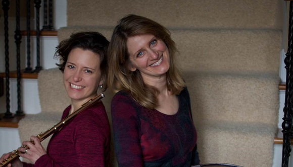 Therapeutic music maestros, Tess Miller and Melissa Straus.