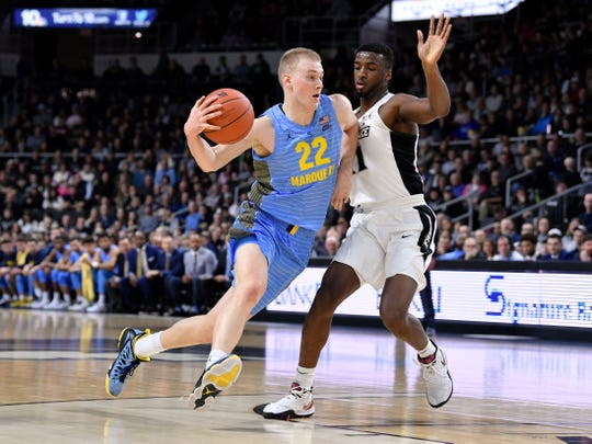 Joey Hauser averaged nearly 10 points per game for Marquette as a freshman last season. He's transferring to Michigan State.