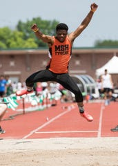 Mansfield Senior's Angelo Grose, who committed to the Cincinnati Bearcats in football last week, owns the top long jump in the state this spring of 24-5.25.