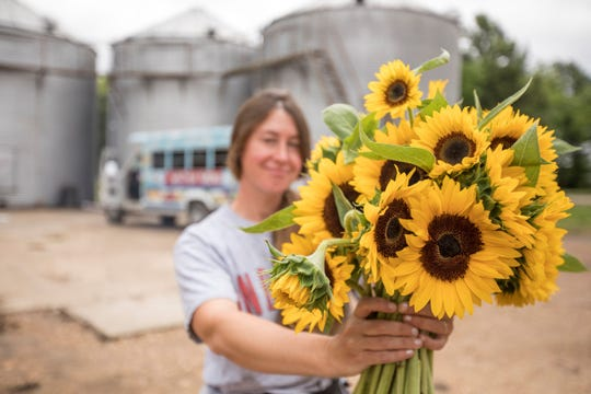 Jill Forrester of Whitton Farms has become known at the Memphis Farmers Market for her home-grown flowers and arrangements.