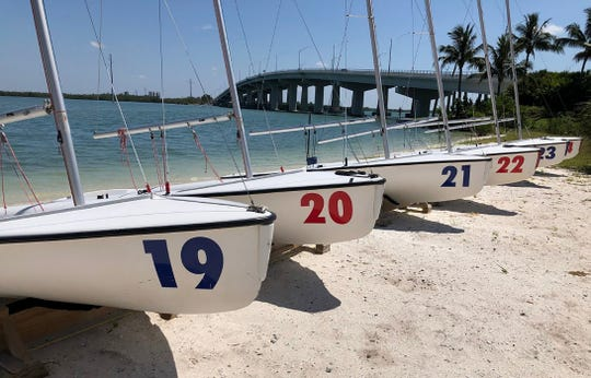 The Marco Island Yacht Club and the Marco Island Community Sailing Center are getting their equipment ready for the return of Sailing Classes off the Yacht Club beach this June.
