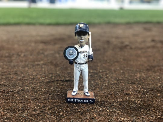 The Christian Yelich bobblehead will be given away June 9 to a sold-out crowd.