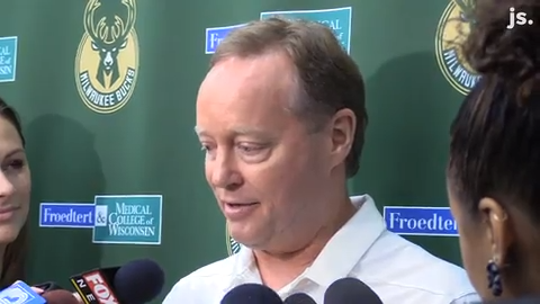 Bucks head coach Mike Budenholzer comments on his plans for watching the 2019 NBA Finals between the Toronto Raptors and the Golden State Warriors.