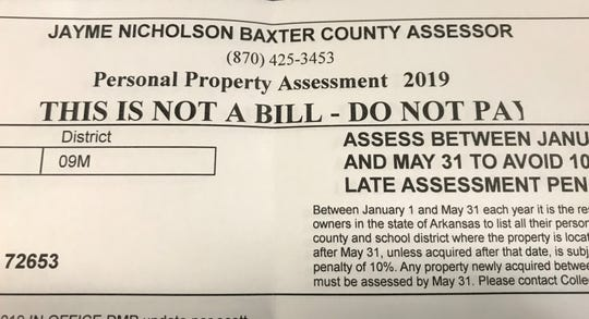 Property owners have until Friday to assess their personal and business property for the 2019. Those assessing after May 31 will pay a 10 percent penalty.