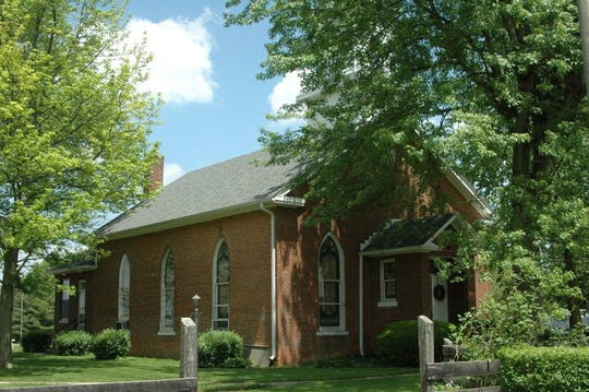 The historic Church at Crossroads is at Delaware County roads 600-W and 700-S.