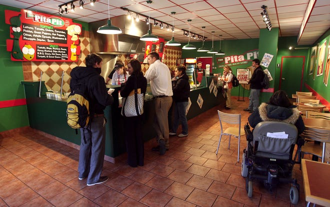 Pita Pit in this file photo from 2006 at lunch time.  Photo by Kurt Hostetler