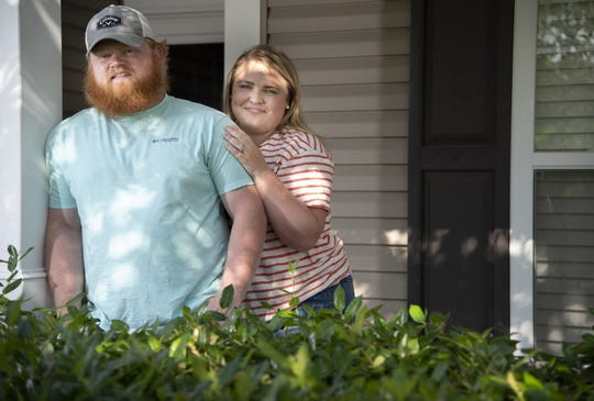 Christopher and Chelsea Collins were able to purchase their first home without having to put the standard 20 percent down.  photographed  Tuesday, May 28, 2019 in Smyrna, Tenn.