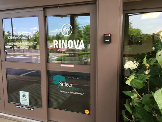 This Rinova pain clinic in Clarksville is one of six clinics that shut down May 8 with no warning to patients. Many former patients have been left without medication or medical records as a result.