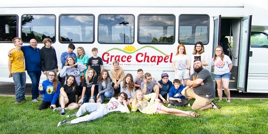Grace Chapel provides bus service to Fairview area youth to attend Wednesday evening services and activities.