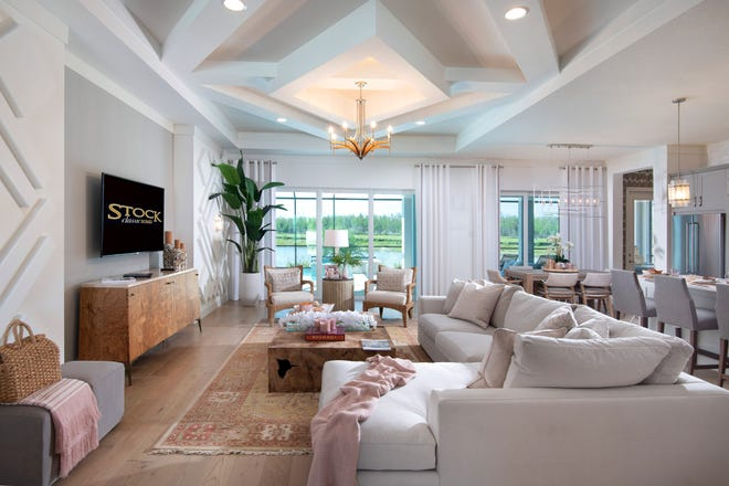 Located in Canoe Landing at Naples Reserve, the Marathon III is a mixture of organic wood elements infused with dusty tones.