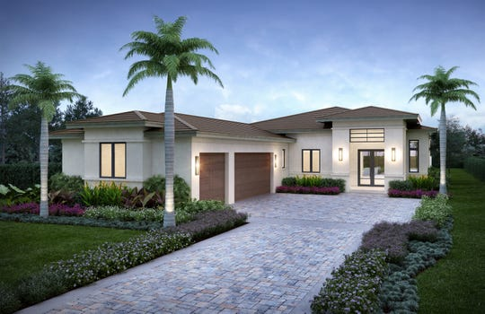The three-bedroom, three-bath plus study Lynford is one of several floor plans available in  Cabreo at Mediterra.