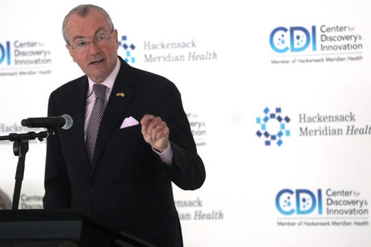 Gov. Phil Murphy talks before the ribbon cutting at Hackensack Meridian Health's Center for Discovery & Innovation (CDI), on the Clifton and Nutley border. Wednesday, May 29, 2019
