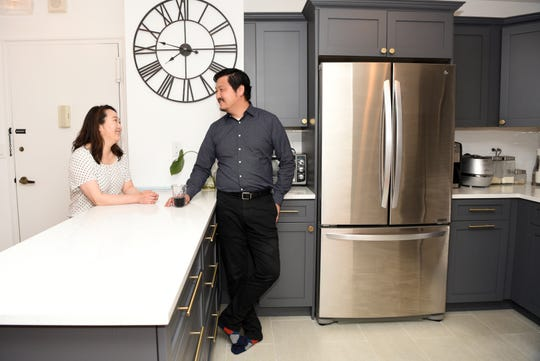 Adam Goodman and Chong Lee renovated the kitchen and two bathrooms in their Fort Lee condominium prior to moving in 2017. Lee designed their new kitchen, while a contractor completed the work for the couple.