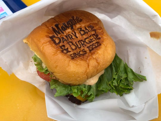 The branded bun in Margate Dairy Bar & Burger gets points for style.
