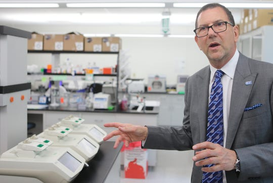 Chief Scientific Officer and Senior Vice President, David S. Perlin, Ph. D, gives a tour of the Hackensack Meridian Health's Center for Discovery & Innovation (CDI), on the Clifton and Nutley border. Wednesday, May 29, 2019