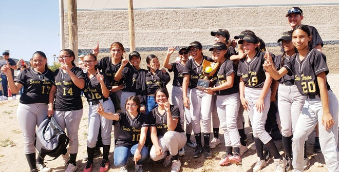 The Santa Teresa Middle School seventh-grade level, Little 13 Conference League, won their softball championship against Tornillo, 10-0, Saturday, May 4.
