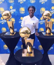 Former New Mexico State women's basketball player Sasha Weber is in her first year on the Golden State Warriors operations staff.