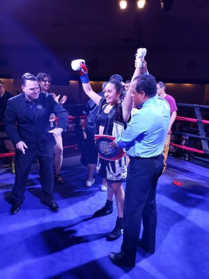 Las Cruces boxer Ayanna Vasquez is the Royal Bozing Organization Super Featherweight title holder.