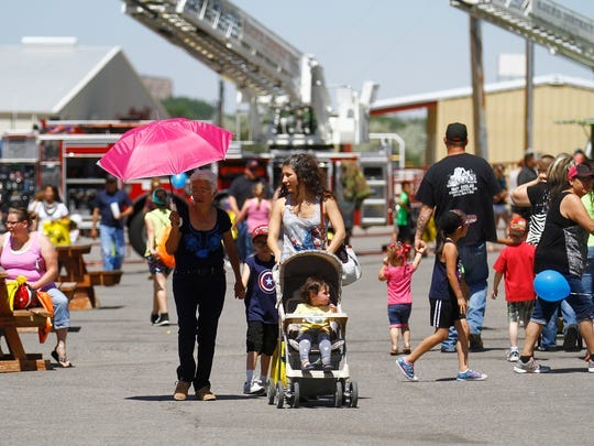 Families check out some of the attractions at the 2016 edition of Kidfest at McGee Park. The annual event returns to the fairgrounds on June 1.