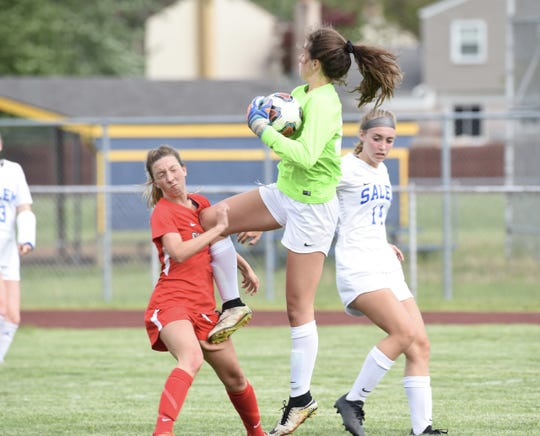 Salem freshman keeper Ava Holloway rises to the occasion.