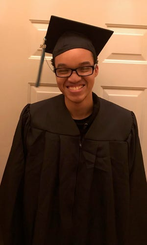 Emmanue'l Franklin, of Redford, will walk at graduation next month after eight years of battling a nuero-immune disease.
