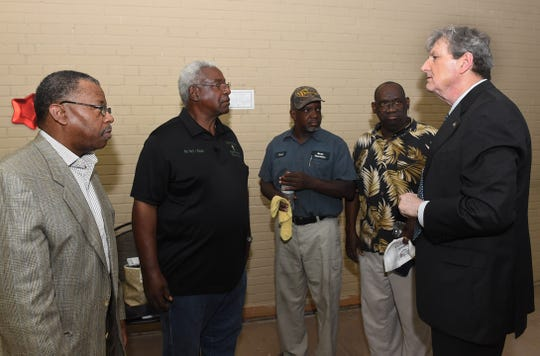 U.S. Sen. John Kennedy in Opelousas to visit pastors of burned churches in St. Landry Parish.