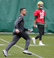 Green Bay Packers head coach Matt LaFleur during practice at Clarke Hinkle Field on Wednesday, May 29, 2019 in Ashwaubenon, Wis.